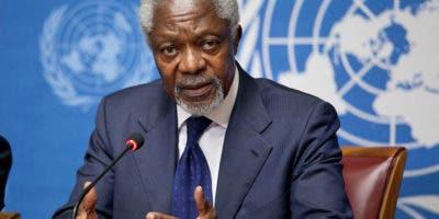 Kofi Annan falleció a los 80 años.