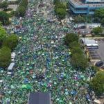 La marcha salió desde la avenidad 27 de Febrero con Tiradentes hasta el Centro de Los Héroes