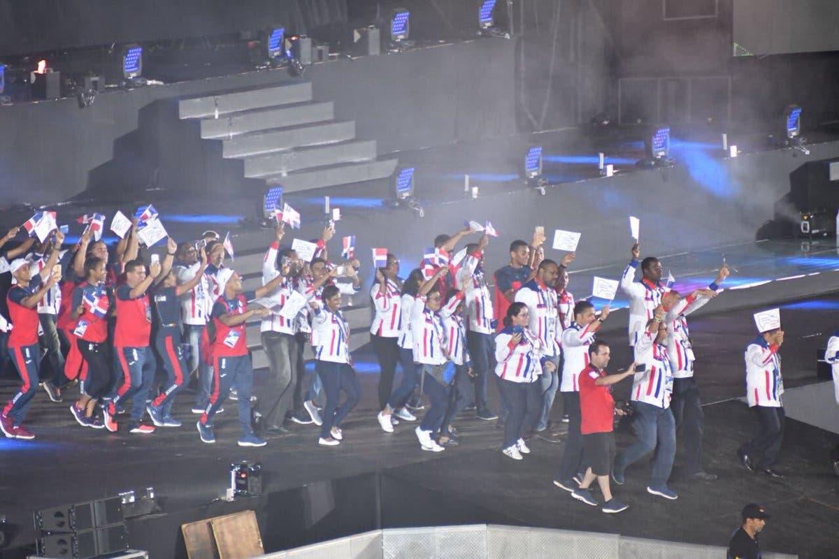Desfile de la delegación de República Dominicana en la ceremonia de clausura de los XXIII Juegos Centroamericanos y del Caribe