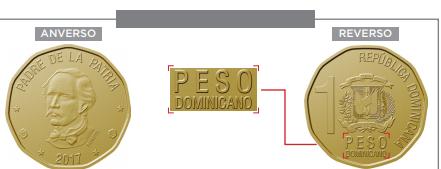 A partir de este lunes circulará moneda de  RD$1.00 con la inscripción peso dominicano