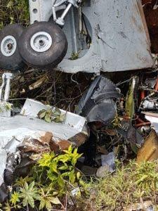 En estas condiciones quedó la aeronave accidentada.