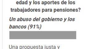 El 91% de los lectores califican la propuesta como un abuso del gobierno y de los bancos.