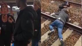 Ciudadanos belgas agredieron dominicano y lo arrojaron a las vías del tren.