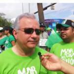 Antonio Taveras Guzmán en la marcha del millón
