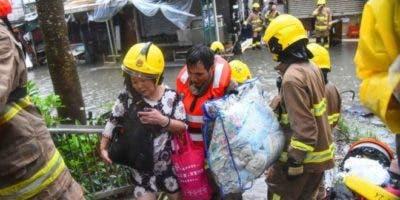 Más de 2,5 millones de chinos tuvieron que evacuar debido al tifón.