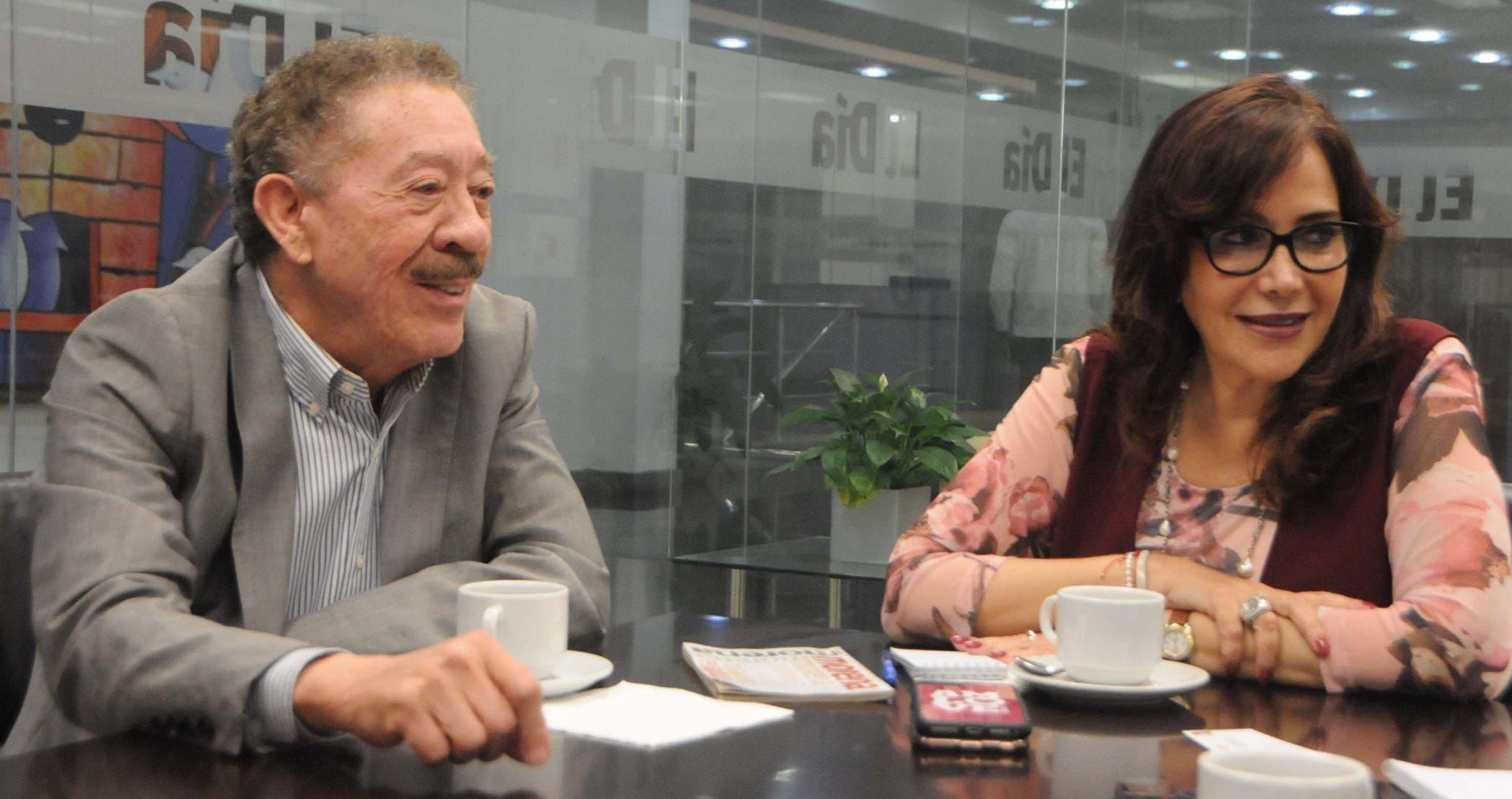 Yeidckol Polevnsky, presidenta del  partido que llevó al poder a López Obrador, y Héctor Díaz Polanco,  de  su Comisión de Ética, en visita a EL DÍA.  Nicolás Monegro