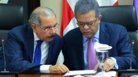 Danilo Medina y Leonel Fernández en reunión. nicolás monegro