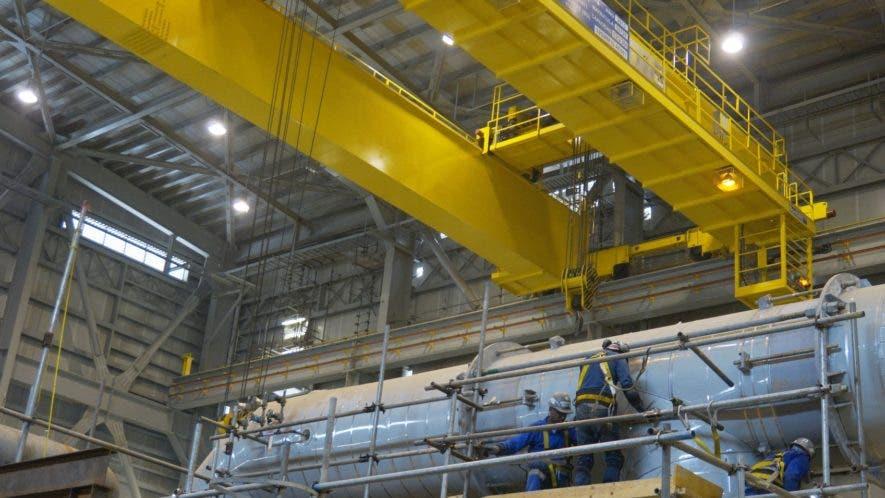 La construcción de la   planta  que se pretende poner en prueba en diciembre está avanzada en un 95 %.  Elieser Tapia