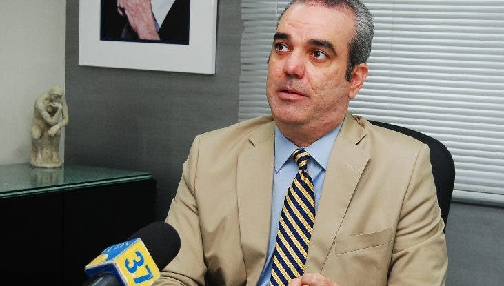 Luis Abinader, precandidato del PRM.  ARCHIVO