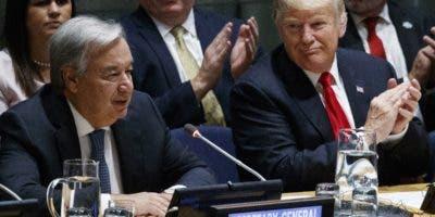 El secretario general de la ONU, António Guterres, hizo un llamado por el respeto a la paz.
