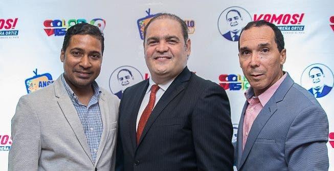 Ángel Laureano, Fabio Ortiz y  Ángel Puello.