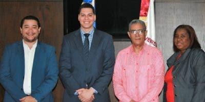 Juan C. Troncoso, Miguel E. Almánzar, Wilfredo Mañón y Zaida Galán.