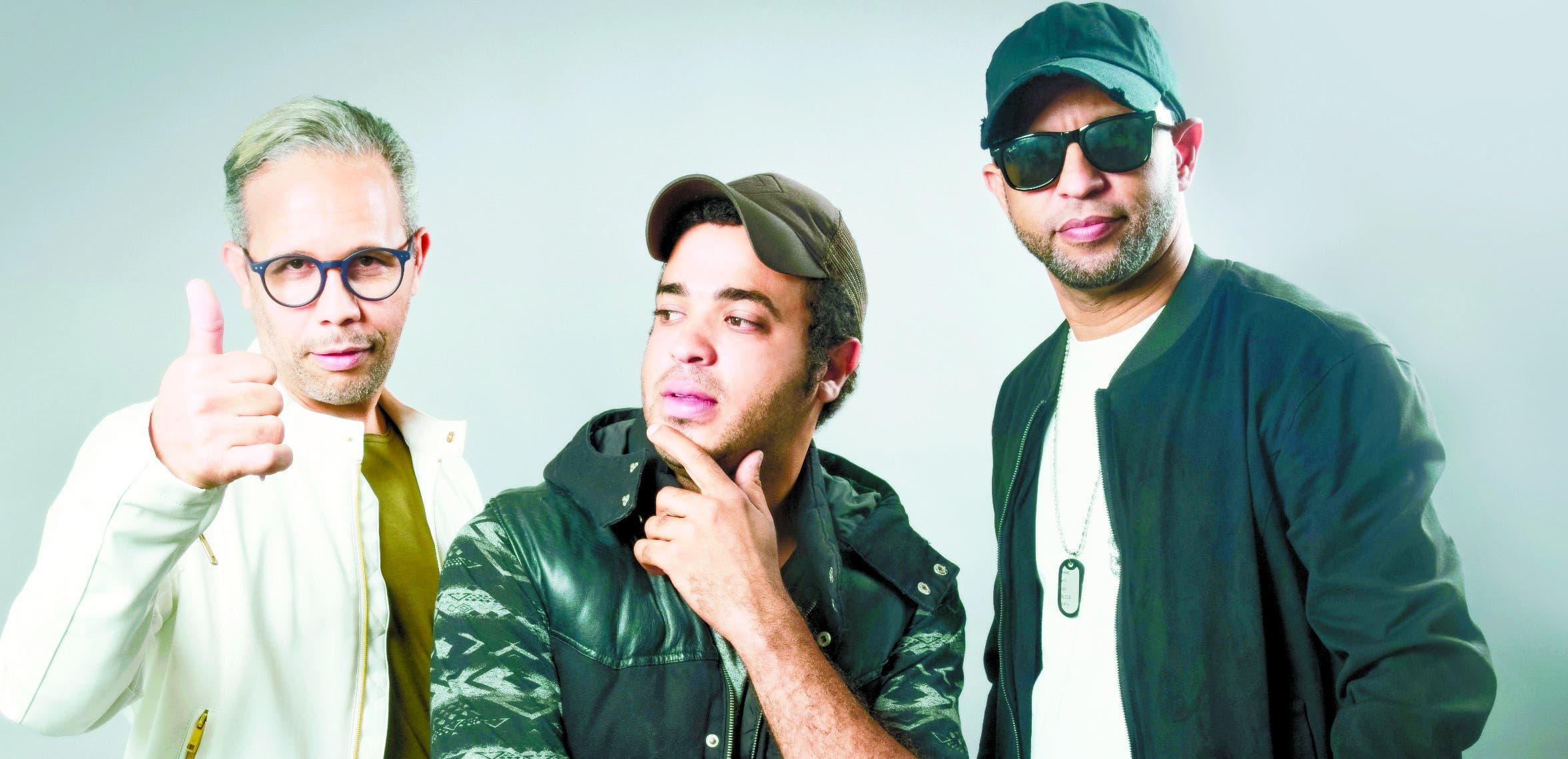 """Joel Gonell, Joaquín Rosario y Juan Andújar  son los líderes de la agrupación Sondeloma, la  que hace unos meses sacó el sencillo """"El gustico"""".   Fuente Externa"""