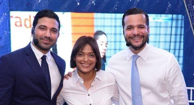 César  Pichardo, Erinia Peralta y Rafael Paz.