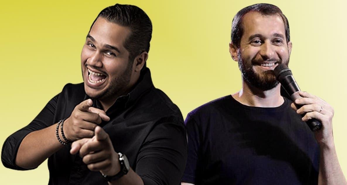 Juan Carlos Pichardo Junior y Carlos Sánchez están listos para su show de hoy.