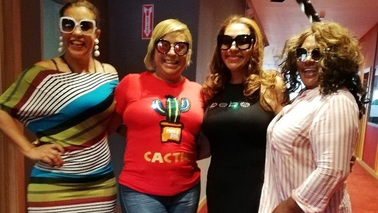 Chavely, Ninoska, Mabel y Nayrad, de Las Chicas del País