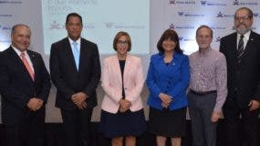 Ricardo Canalda, Jesús Gerardo Martínez, Mercedes Canalda, Eva Carvajal de Toribio, Ignacio Méndez y Ramón Rosario.