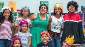 Parte de los niños que participaron en la actividad del Centro Cultural de España.