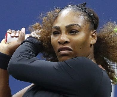 Serena Williams  fue sancionada ayer en el US Open.ap