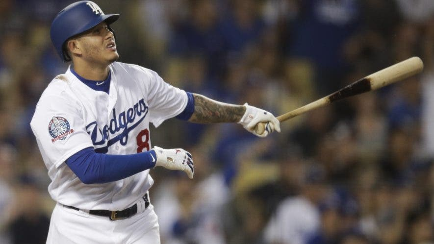 El dominicano Manny Machado, de los Dodgers.  AP