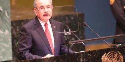 El presidente Danilo Medina  habló ante el Consejo de las Naciones Unidas (ONU),  donde  abordó varios temas.  Fuente externa.
