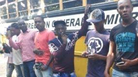 Parte de los haitianos detenidos en el país.  fuente externa