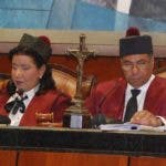 Leyda Piña y Milton Ray Guevara, jueces titulares del Tribunal Constitucional.  ARCHIVO.