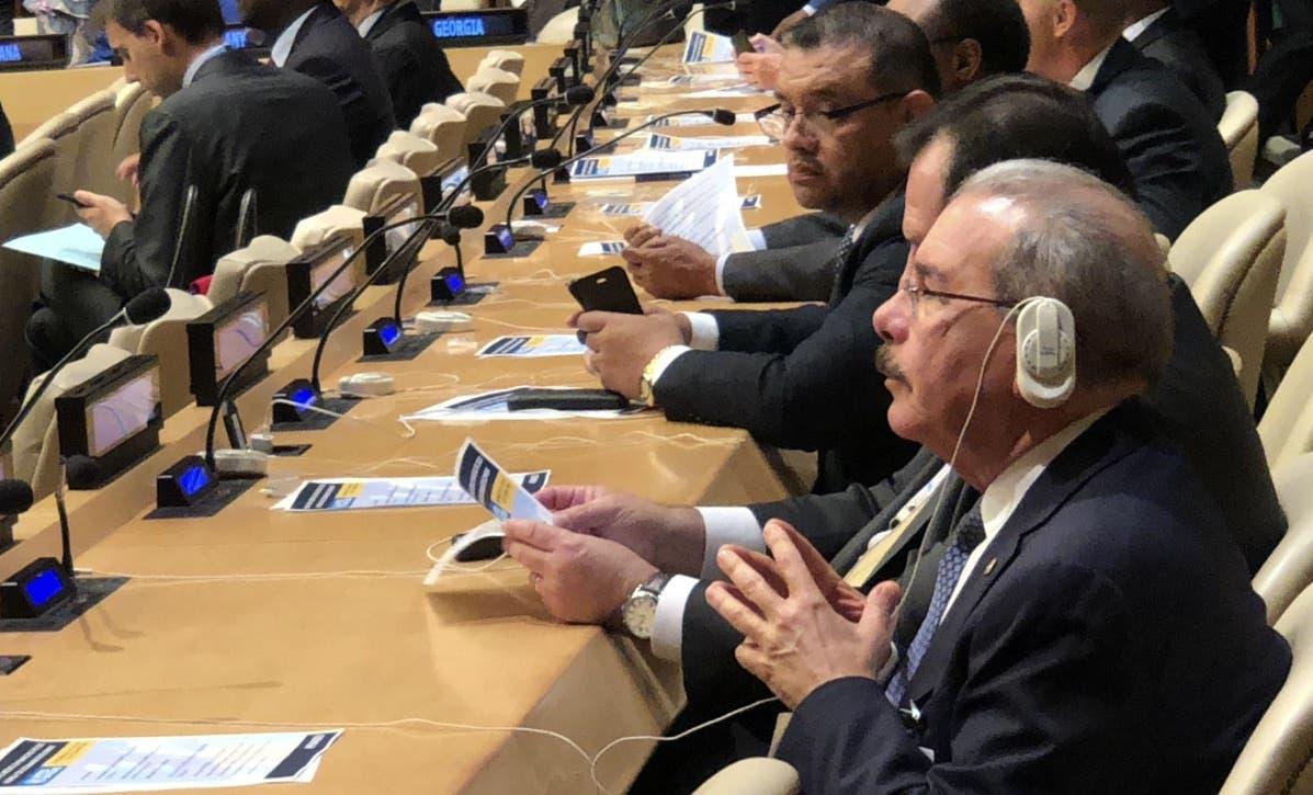 El presidente Danilo Medina hablará hoy ante Asamblea de la ONU.  fuente externa