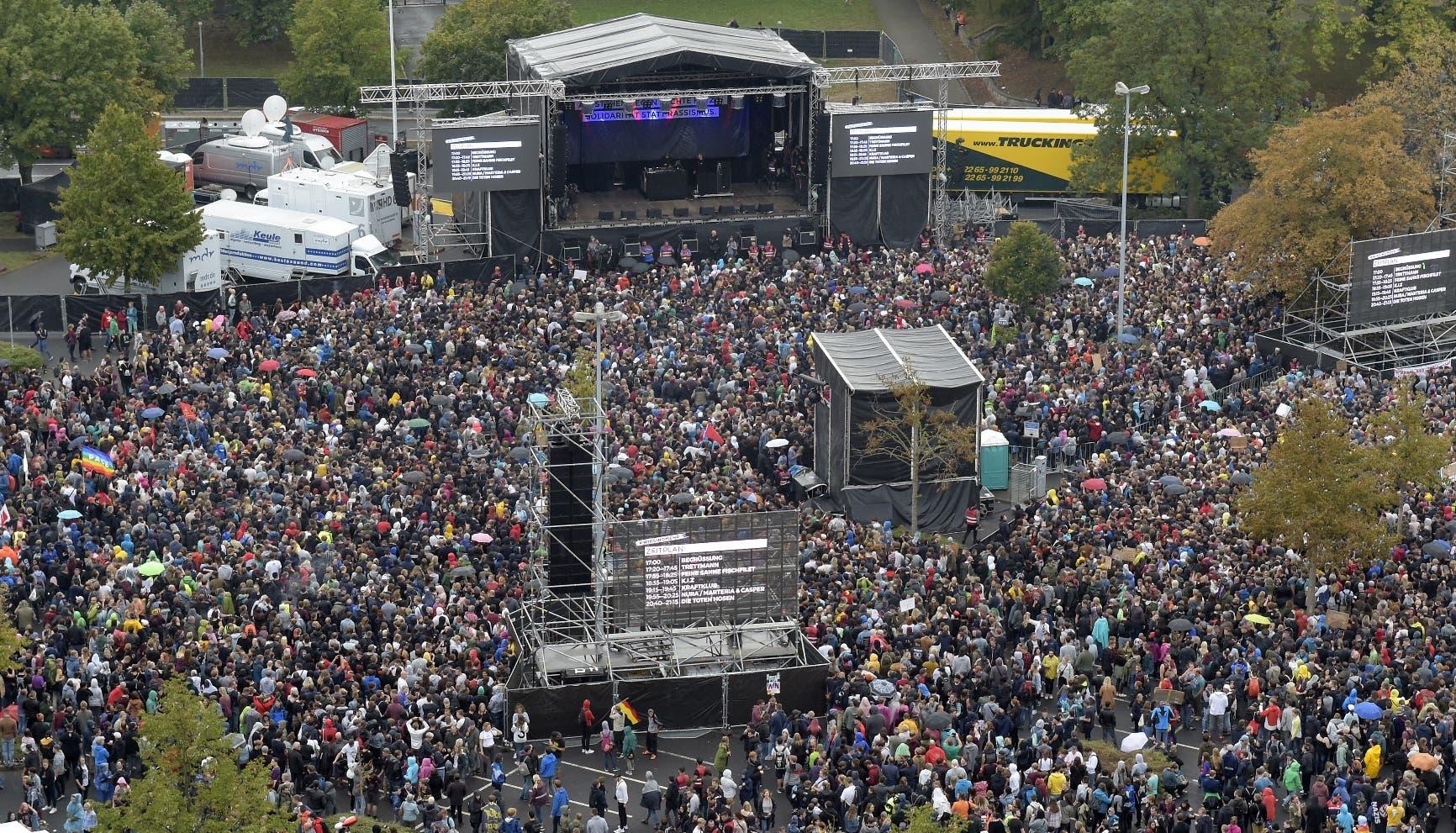 Unas 65.000 personas asisten a un concierto contra el racismo en Chemnitz