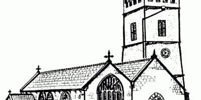 A Drawing Of A Church Holy Trinity Church, Burrington, Devon