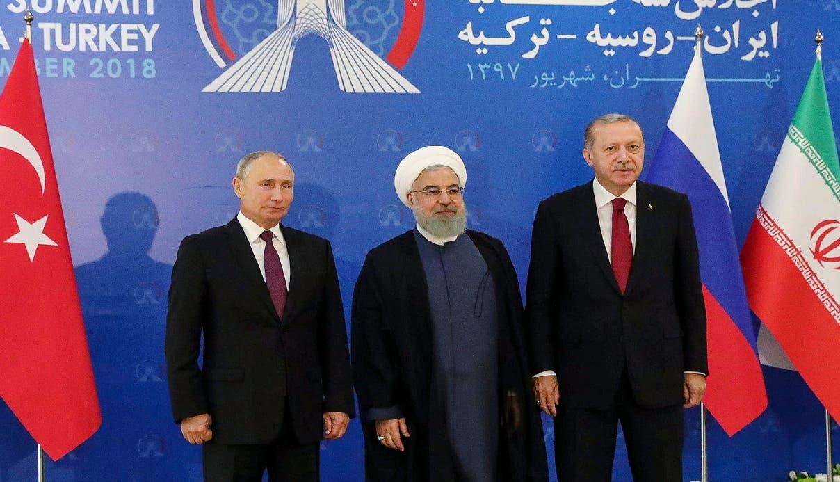 """Los presidentes de Rusia, Vladímir Putin, Turquía, Recep Tayyip Erdogan, e Irán, Hasan Rohaní, se comprometieron asimismo a colaborar """"hasta la completa erradicación de los grupos terroristas en Siria""""."""