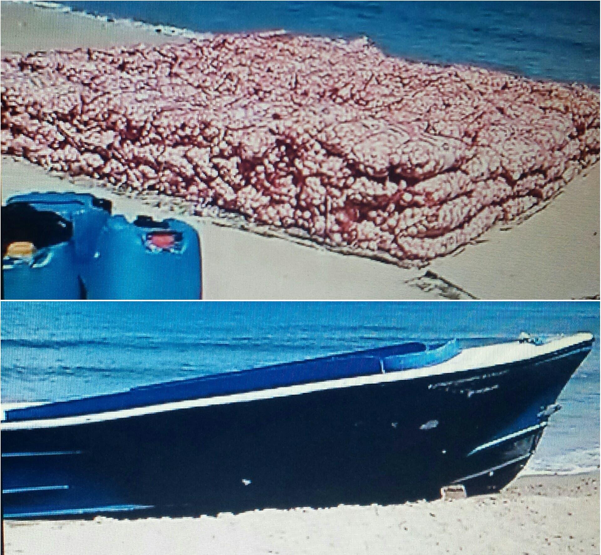 sale-yola-con-cargamento-ilegal-de-ajo-procedente-de-haiti-en-playa-cambiaso-de-puerto-plata