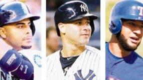 Nelson Cruz ,  Gary Sánchez  y  Nomar Mazara
