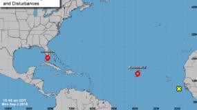 La tormenta tropical aumentó la fuerza de sus vientos máximos sostenidos a 100 kilómetros por hora (65 millas por hora).