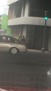 Presencia militar en la avenida San Martín.