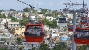 La línea 1 del teleférico de Santo Domingo comenzó a operar el año pasado.