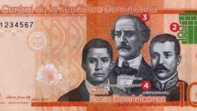 El billete presenta en el frente una imagen del BC.