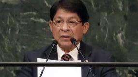 El canciller de Nicaragua, Denis Moncada, habla en la  ONU.