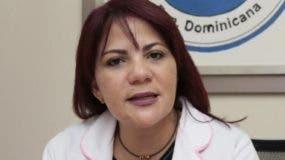 Claudia Almonte, presidenta de la Sociedad  de Cardiología.