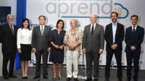 La Junta Directiva de Educa y el Banco Popular Dominicano en el encuentro.