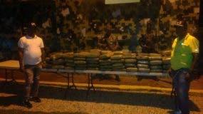 La marihuana incautada por el Ejército en San Juan de la Maguana.