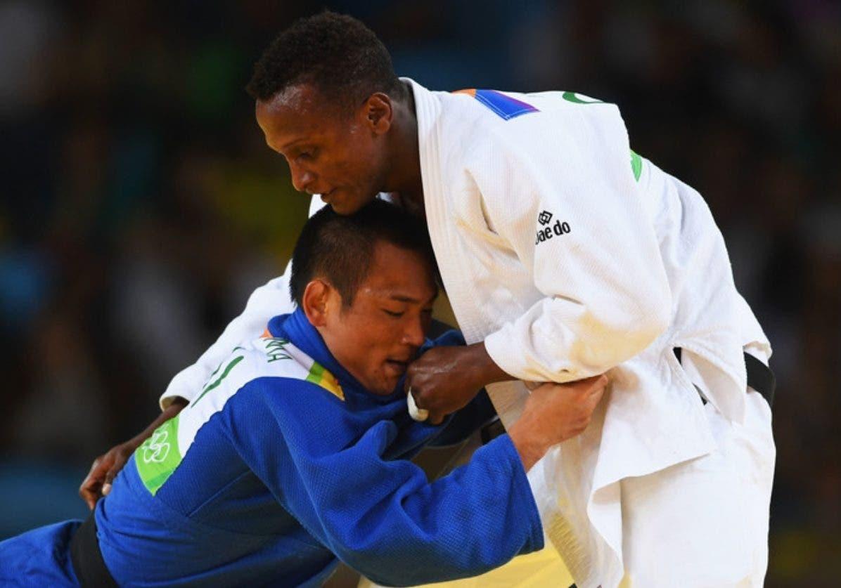El judoca dominicano Wander Mateo está  concentrado en una buena preparación.