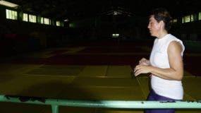 Así lucía ayer el tatami del pabellón de judo, luego del apagón que afectó el Centro Olímpico.  Elieser Tapia