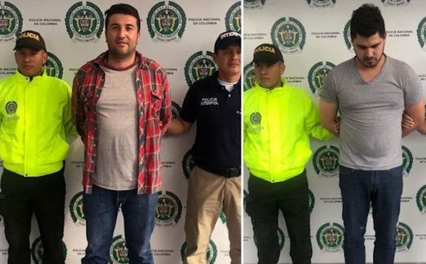 Dos de los colombianos apresados en su país.  archivo