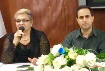 Ángela Genao y Rafael Rodríguez en  la actividad.