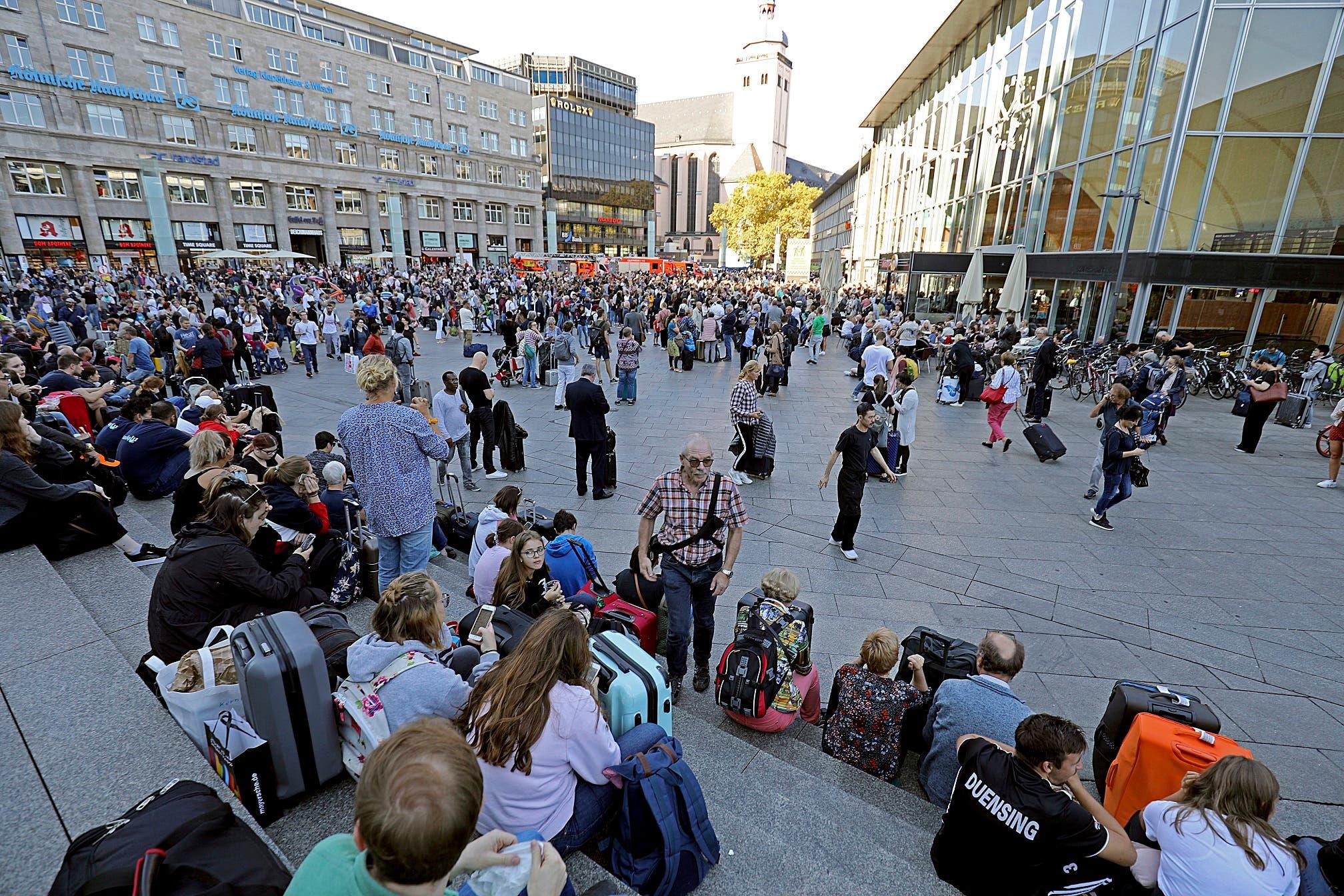 La toma de rehenes que obligó hoy a desalojar la estación central ferroviaria de Colonia, en el oeste de Alemania.