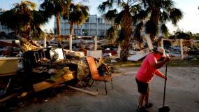 Foto tomada el 13 de octubre del 2018 de la devastación causada por el huracán Michael en Mexico Beach, Florida.  (AP Photo/David Goldman)