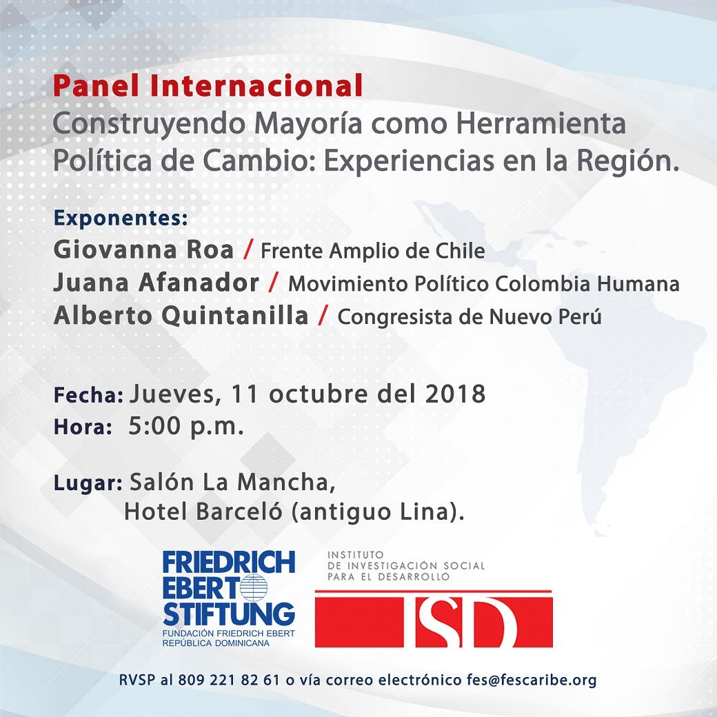 Celebrarán Panel Internacional sobre experiencias en América Latina en la construcción de mayoría política desde la ciudadanía