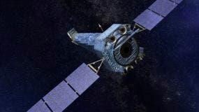 Esta ilustración suministrada por la NASA muestra el Observatorio Chandra de rayos-X. (NASA/CXC/SAO vía AP)