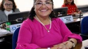 Diputada salvadoreña Irma Segunda Amaya, presidenta del Parlacen.